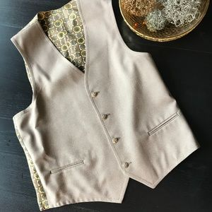 Other - 🔴  Yellow & Light Brown Patterned Men's Vest